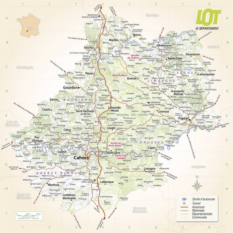 carte du lot - Photo