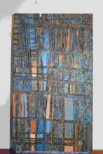 © Jérôme Relhié, Arcane, acrylique sur bois, 92 x 53 cm