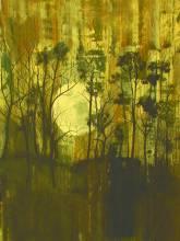 Pleine lune, Acrylique sur toile, 100x100cm, 2010
