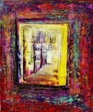 CORK Door of Light 10... technique mixte sur toile...30 cm x 25 cm