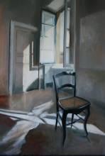 la chaise, la lumiere, 70x50, huile, 2012