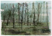 La fuite des esclaves, pigments purs et encre coréenne (Mookro) sur papier aquarelle Sauders Waterford 300g. , 70 x 55 cm, 2016