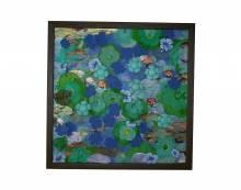 """""""Jardin pamplemousse""""- Technique mixte - toile 100x100 cm - Orel 2011"""