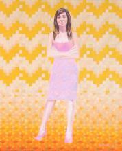 Portrait avec Motifs, Huile 2016 52 x62 cm