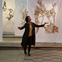 Méridien 5 draps suspendus avec couture de laine brute - 3x2m /pièce - 2013